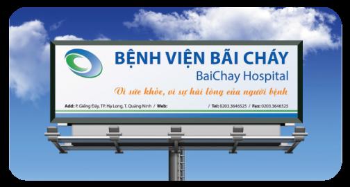 Thiết kế banner, bộ nhận diện bệnh viện Bãi Cháy
