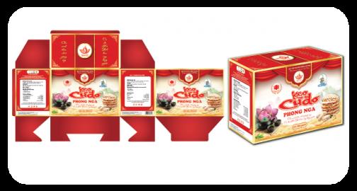 Thiết kế bao bì nhãn mác sản phẩm kẹo cu đơ đặc sản Hà Tĩnh