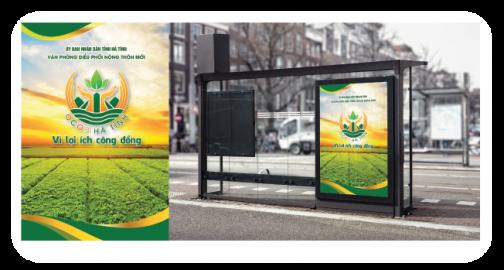 Thiết kế tờ rơi, poster chương trình Mỗi xã một sản phẩm - OCOP Hà Tĩnh